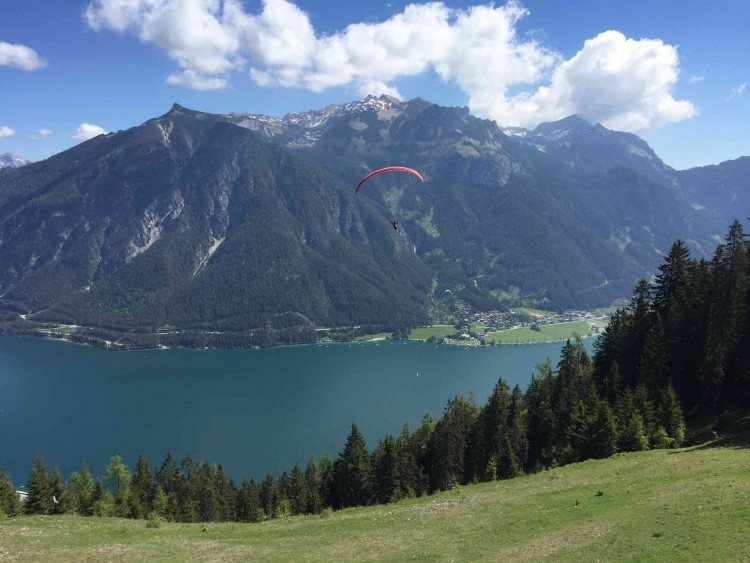 Achensee from the top - a great holiday region.